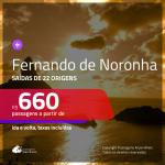 Promoção de Passagens para <b>FERNANDO DE NORONHA</b>! A partir de R$ 660, ida e volta, c/ taxas!