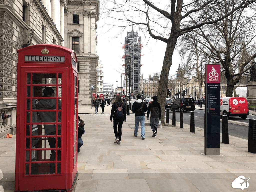 Cabine de telefone em Londres