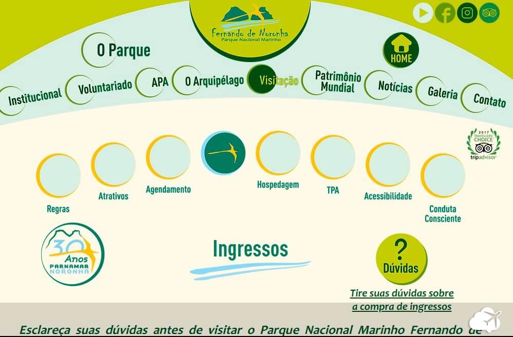 Site parque nacional marinho Fernando de Noronha