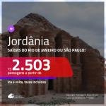 Promoção de Passagens para a <b>JORDÂNIA: Amã ou Marka</b>! A partir de R$ 2.503, ida e volta, c/ taxas!