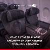 Como é voar na classe executiva da Copa Airlines de Cancun a Brasília