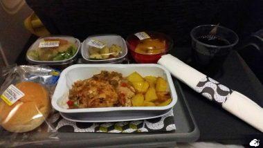voar pela tap air portugal jantar