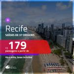 Promoção de Passagens para <b>RECIFE</b>! A partir de R$ 179, ida e volta, c/ taxas!