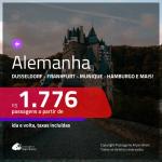 Promoção de Passagens para a <b>ALEMANHA: Berlim, Colonia, Duesseldorf, Frankfurt, Hamburgo, Hannover, Munique ou Stuttgart</b>! A partir de R$ 1.776, ida e volta, c/ taxas!