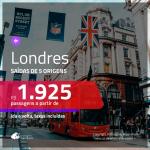 Promoção de Passagens para <b>LONDRES</b>! A partir de R$ 1.925, ida e volta, c/ taxas!