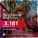 Promoção de Passagens para <b>SINGAPURA</b>! A partir de R$ 3.181, ida e volta, c/ taxas!