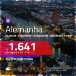 Promoção de Passagens para a <b>ALEMANHA: Berlim, Colonia, Duesseldorf, Frankfurt, Hamburgo, Hannover, Munique ou Stuttgart</b>! A partir de R$ 1.641, ida e volta, c/ taxas!