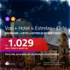 Promoção de <b>PASSAGEM + HOTEL 4 ESTRELAS</b> para o <b>CHILE: Santiago</b>! A partir de R$ 1.029, por pessoa, quarto duplo, c/ taxas!