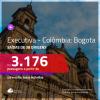 Promoção de Passagens em <b>CLASSE EXECUTIVA</b> para a <b>COLÔMBIA: Bogotá</b>! A partir de R$ 3.176, ida e volta, c/ taxas!