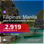 Promoção de Passagens para as <b>FILIPINAS: Manila</b>! A partir de R$ 2.919, ida e volta, c/ taxas!