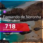 Promoção de Passagens para <b>FERNANDO DE NORONHA</b>! A partir de R$ 718, ida e volta, c/ taxas!