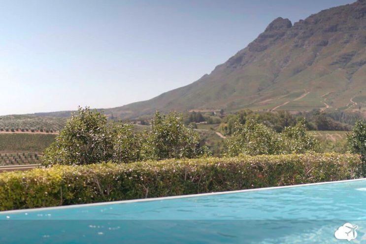 vista de hotel em stellenbosh