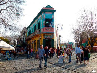 Caminito, em Buenos Aires um do países que não exigem passaporte