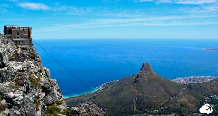 vista de cima table mountain cape town