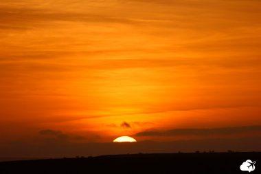 O lindo pôr do sol de Cabo Verde
