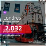 Promoção de Passagens para <b>LONDRES</b>! A partir de R$ 2.032, ida e volta, c/ taxas!
