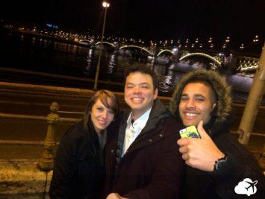 Anderson e o casal, em Budapeste