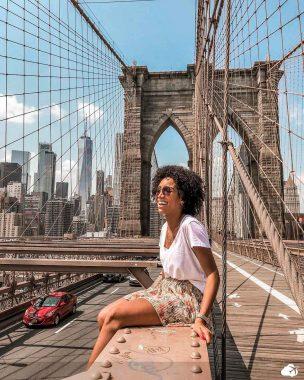 Bárbara, durante uma viagem para Nova York - Viajar sozinho