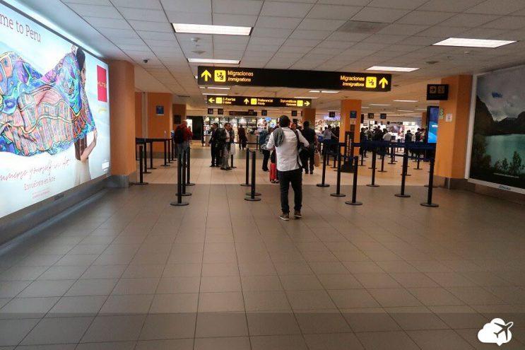 desembarque aeroporto lima peru