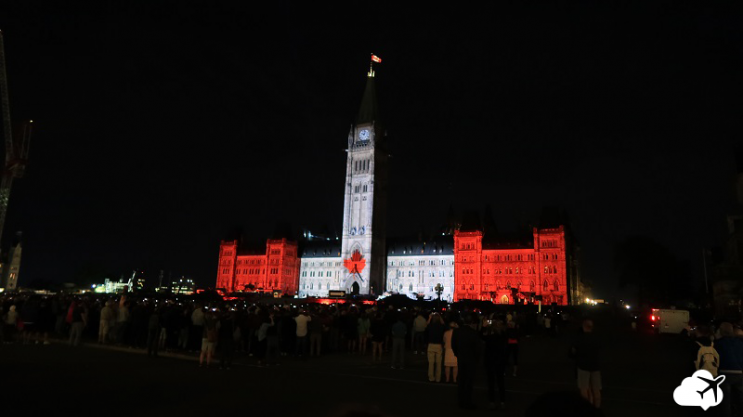 show luzes parliament building ottawa