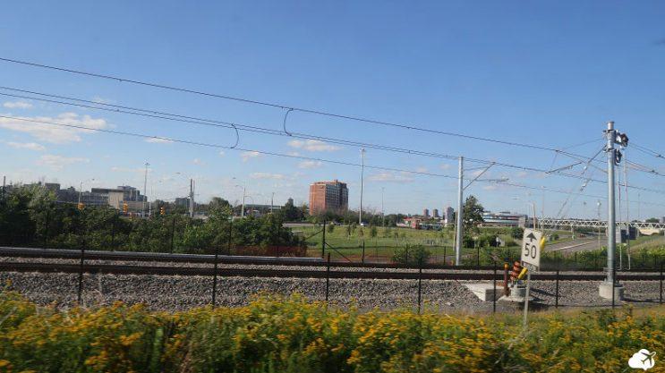vista da janela trem canada