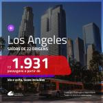 Promoção de Passagens para <b>LOS ANGELES</b> a partir de R$ 1.931 ou LAS VEGAS a partir de R$ 2.410, ida e volta, c/ taxas!