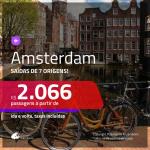 Promoção de Passagens para <b>AMSTERDAM</b>! A partir de R$ 2.066, ida e volta, c/ taxas!