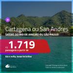 Promoção de Passagens para a <b>COLÔMBIA: Cartagena ou San Andres</b>! A partir de R$ 1.719, ida e volta, c/ taxas!
