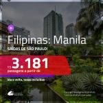 Promoção de Passagens para as <b>FILIPINAS: Manila</b>! A partir de R$ 3.181, ida e volta, c/ taxas!