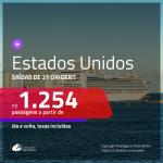 Promoção de Passagens para os <b>ESTADOS UNIDOS: Fort Lauderdale, Miami, Orlando</b>! A partir de R$ 1.254, ida e volta, c/ taxas!