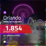 Promoção de Passagens para <b>ORLANDO</b>! A partir de R$ 1.854, ida e volta, c/ taxas!