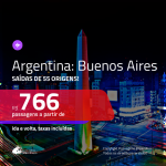 Promoção de Passagens para a <b>ARGENTINA: Buenos Aires</b>! A partir de R$ 766, ida e volta, c/ taxas!