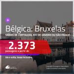 Promoção de Passagens para a <b>BÉLGICA: Bruxelas</b>! A partir de R$ 2.373, ida e volta, c/ taxas!