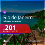Promoção de Passagens para o <b>RIO DE JANEIRO</b>! A partir de R$ 201, ida e volta, c/ taxas!