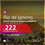 Promoção de Passagens para <b>RIO DE JANEIRO</b>! A partir de R$ 222, ida e volta, c/ taxas!