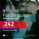 Promoção de Passagens para <b>FOZ DO IGUAÇU</b>! A partir de R$ 242, ida e volta, c/ taxas!