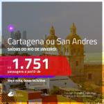 Promoção de Passagens para a <b>COLÔMBIA: Cartagena ou San Andres</b>! A partir de R$ 1.751, ida e volta, c/ taxas!