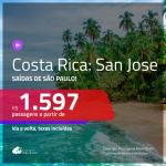 Promoção de Passagens para a <b>COSTA RICA: San Jose</b>! A partir de R$ 1.597, ida e volta, c/ taxas!