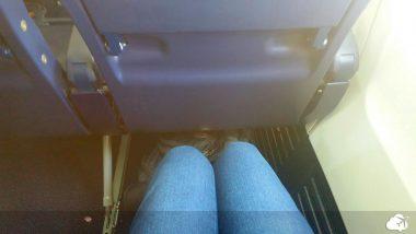 Ryanair espaço entre as poltronas