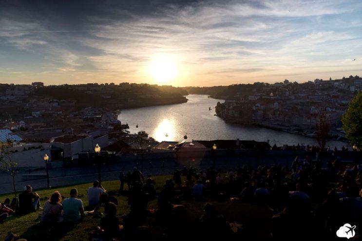 por do sol porto portugal