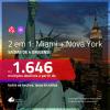 Promoção de Passagens 2 em 1 – <b>MIAMI + NOVA YORK</b>! A partir de R$ 1.646, todos os trechos, c/ taxas!