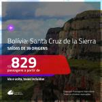 Promoção de Passagens para a <b>BOLÍVIA: Santa Cruz de la Sierra</b>! A partir de R$ 829, ida e volta, c/ taxas!