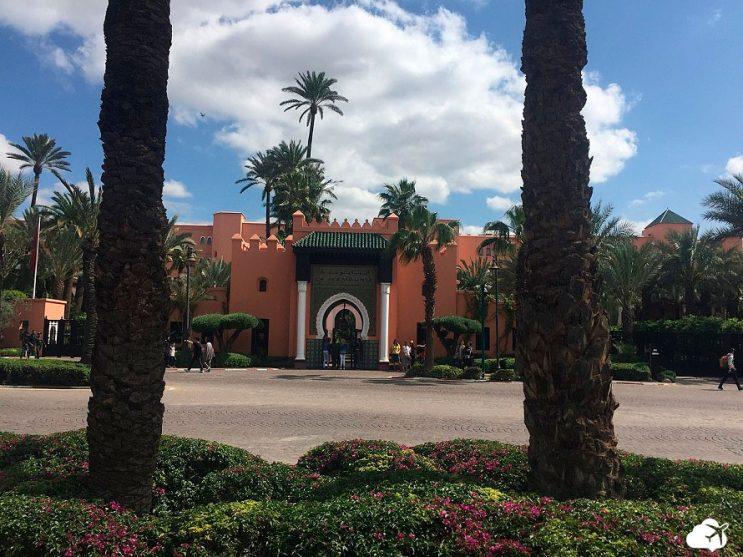 fachada hotel la mamounia marrakech marrocos