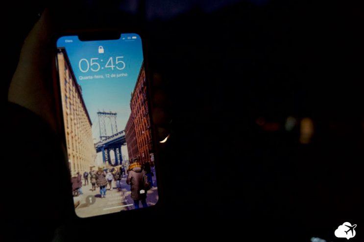 celular no exterior