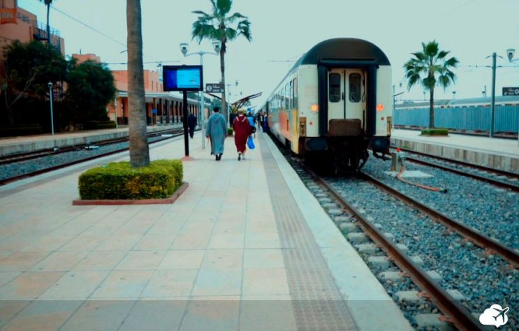 plataforma de embarque trem marrocos