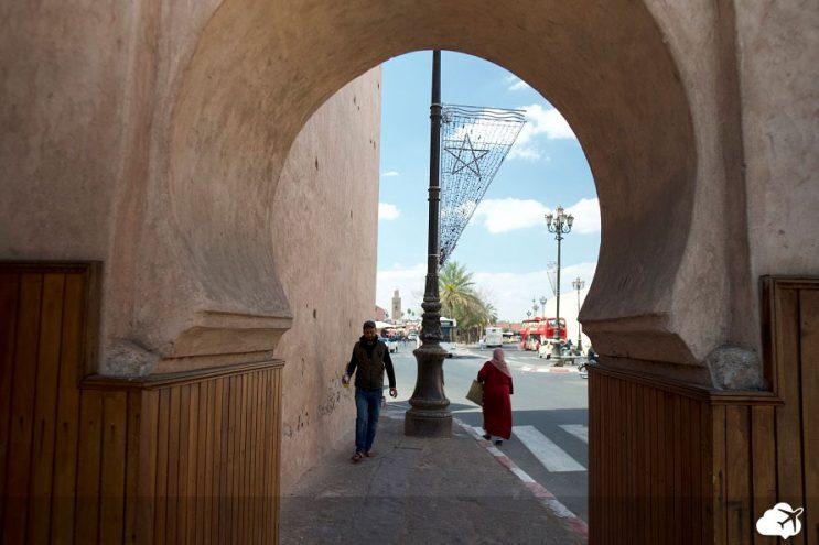 entrada medina marrakech marrocos