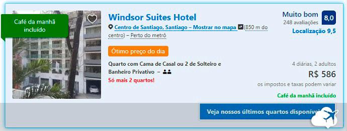 preco hotel santiago