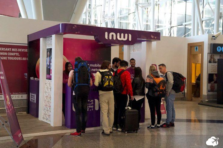 loja de chip de internet aeroporto marrocos