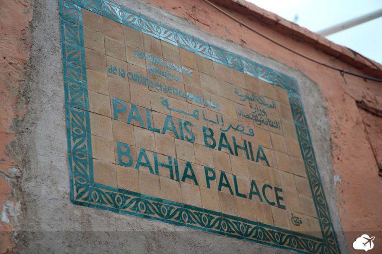 entrada palacio bahia marrakech marrocos