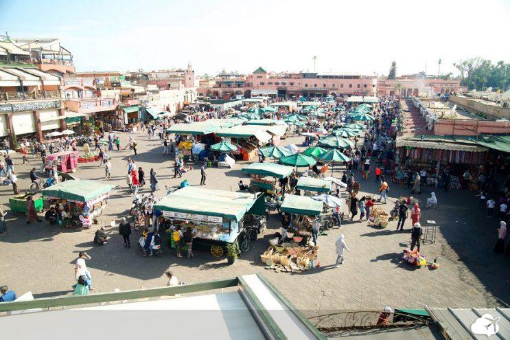 praca jamaa el fna marrakech marrocos